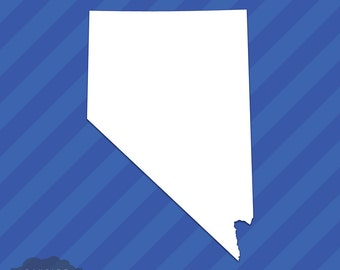 Nevada NV State Outline Vinyl Decal Sticker