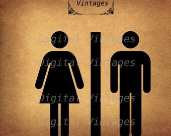 Bathroom Sign Etsy unisex bathroom sign | etsy