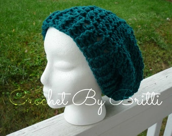 Slouchy Beanie Hat / Thick Brim / Custom Colors / Handmade by Britti