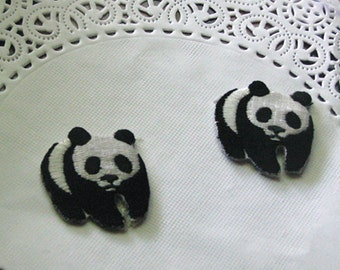 4pcs lot panda  embroidered iron on patch    DIY sewing 3cm