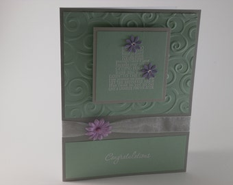 Congratulations Wedding Cake card
