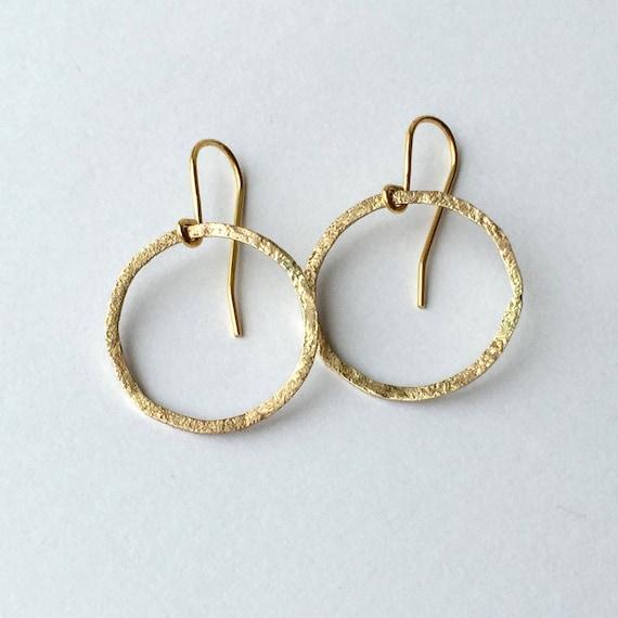 Gold Circle Earrings - 9 Carat Yellow Gold