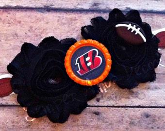 Cincinnati Bengals Headband, Orange & Black Headband, Cincinnati Bengals Baby, Cincinnati Bengals Bow, Baby Girl Bengals, Bengals Baby