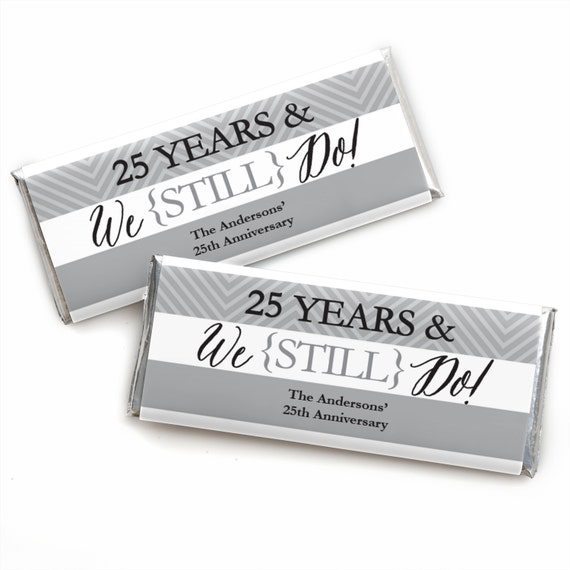 24 We Still Do 25th Anniversary Custom Candy Bar Wrappers