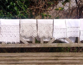 Vintage Lace Edged Chair/Sofa Covers. 1950's/60's.