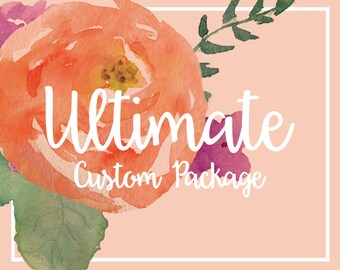 Custom Logo Design Package with Logo, Banner, Avatar & Business Card Small Business and Photography Branding Package Marketing Package