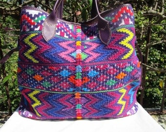 Jazuli Designs: SPECIAL PRICE for MAY! Slouchy Boho bag for summer. Beautifully crafted huipil bag & quality leather finishes