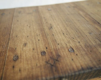 Rustic-Inspired Reclaimed Wood Table Top Book Rack
