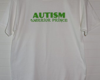 Autism Warrior Prince Block Version Youth White Short Sleeve Shirt