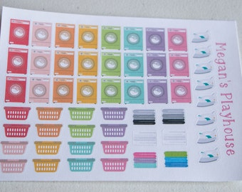 Laundry Planner Sticker Set
