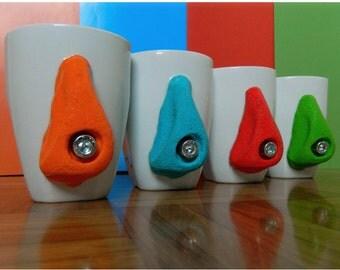 Rock Climbing Ceramic Mug, Rock Climbing Cup, Mug with Climbing Hold, Sport – Themed mugs