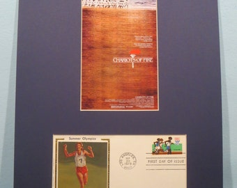 Summer Olympics - Chariots of Fire and the First Day Cover of the Olympic Running stamp