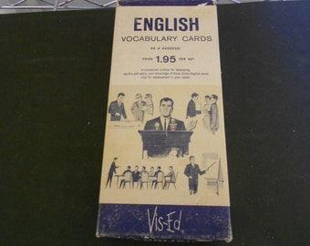 Vintage English Vocabulary Cards