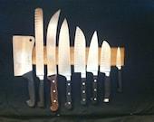 Magnetic Mesquite Knife Rack