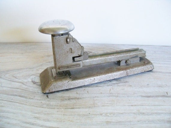 Vintage Pilot Stapler Ace Fastener Corp Steel Stapler Made in USA Chicago Ill 1940s