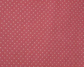 Dotted Swiss Fabric Pink Fabric White Dots 2 Yards 22 Inches