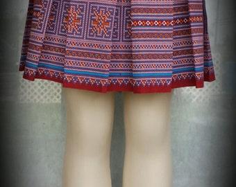 Hmong Vintage Mini Skirt