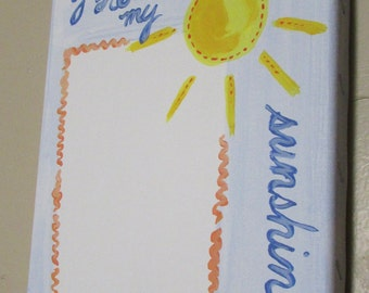 You Are My Sunshine Custom Nursury Art for Baby's Name, Weight and Birthday