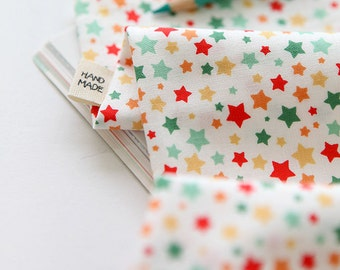 Cute Colorful Little Stars Pattern Cotton Fabric by Yard