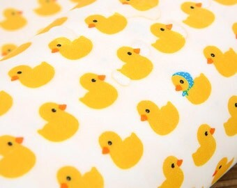 Laminated Cute Rubber Ducks Pattern Cotton Fabric by Yard AE43