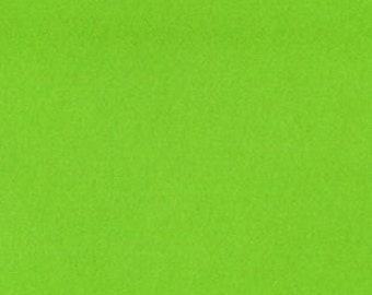 Fabric by the 1/2 Yard - Solid Lime Green Anti-Pill Fleece Fabric