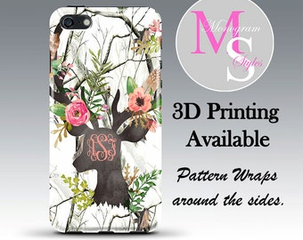 Monogram iPhone 7, 7 Plus Case Camouflage Browning Monogrammed iPhone 4 4S Personalized Iphone 5, 5S, 5C, iPhone 6, 6 Plus Tough Case #2738