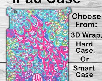 Monogram iPad Mini 1/2/3/4 Case Personalized iPad Air 1/2 Lilly Pullitzer Inspired iPad 2/3/4 Smart Case iPad iPad Pro 9.7 inch 3D Case 2617