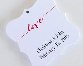 Love Favor Tags, Love Wedding Favor Tags, Thank You Wedding Hang Tags  (FS-007)