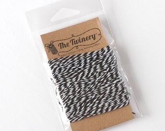 The Twinery Twine - Charcoal Black