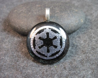 IMPERIAL COG.. Dichroic Glass Pendant Necklace