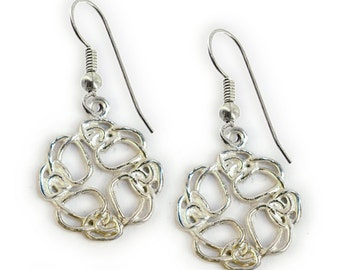 Celtic Knot Earrings~ Sterling Silver ~ French wire