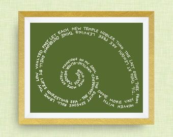 Nautilus Print - The Chambered Nautilus by Oliver Wendell Holmes - Kappa Delta
