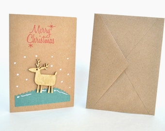 Christmas Greeting Card Set, Christmas Cards, Set of 10, Merry Christmas Card, Holiday Card, Holiday Greeting Cards