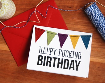 Funny Happy Birthday Card, Humorous greeting card