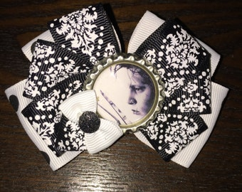 Johnny Depp Hair Bow Edward Scissorhands Hair Clip Johnny Depp Hair Accessory Edward Scissorhands Hair Bow