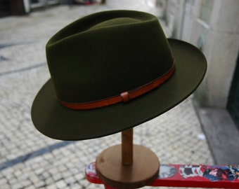 Fedora felt hat - Forest Green