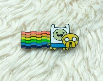 Adventure Time Hat Pin - Nyan Adventure Time