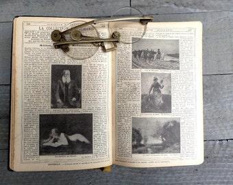 1912. Antique french  Almanac. Popular encyclopedia of practical life. French Book. Antique French book