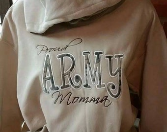 Army momma hoodie. Army mom.