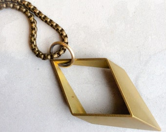 Modern Geometry Necklace