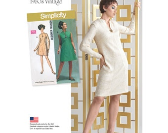 Simplicity Pattern 8254 1960's Vintage Dress for Miss and Plus Sizes