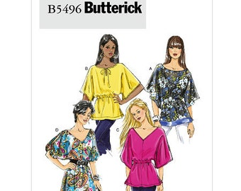 OUT of PRINT Butterick Pattern B5496 Misses' Tunic