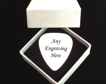 Personalised Guitar Pick, Plectrum with Engraving, Personalised Gift for Guitar Player, Music Lover