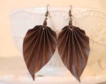 Leaf Origami Earrings