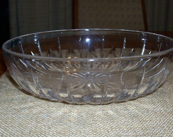 Vintage Stuart Crystal HAMPSHIRE Clear Cut Crystal Shallow Bowl 8""
