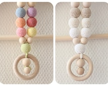 Organic Rainbow Teething necklace / Baby wearing necklace / Nursing necklace / Breastfeeding necklace / CHOOSE color