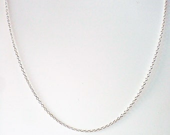 Unfinished Sterling Silver chain, silver necklace chain, sterling silver necklace, flat cable chain, dainty necklace sold per inch