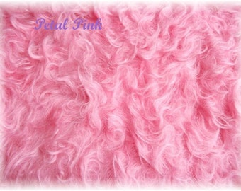 Handdyed Schulte Mohair Fabric Petal Pink 50mm  Pile   one of kind