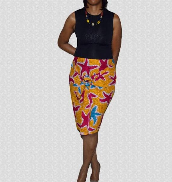 tie front skirt ankara pencil skirt pencil skirtsafrican