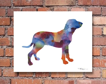 Bracco Italiano Art Print - Abstract Watercolor Painting - Wall Decor